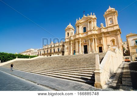 Noto Cathedral Is A Roman Catholic Church In Sicily, Italy.