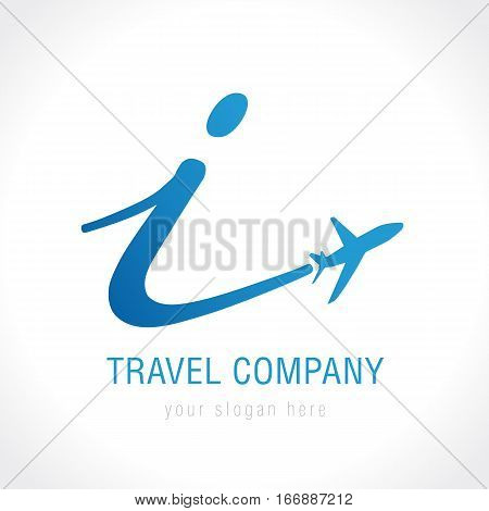 Airline innovation business travel logo design with letter