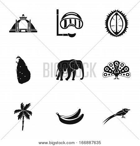 Sri Lanka icons set. Simple illustration of 9 Sri Lanka vector icons for web
