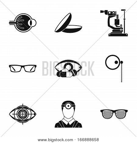 Vision icons set. Simple illustration of 9 vision vector icons for web