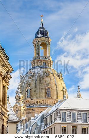 Church Of Our Lady In Dresden In Winter