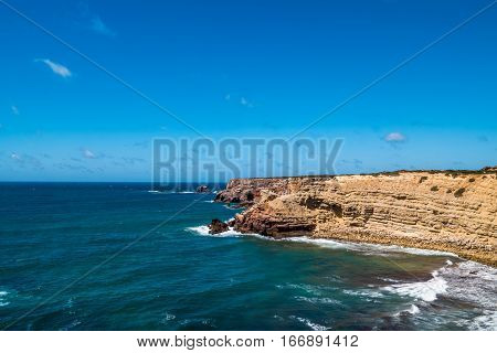 Portugal - Cliffs By The Atlantic Ocean