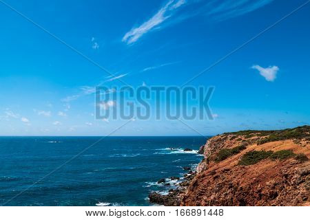 Portugal - Sand And Cliffs By The Atlantic Ocean