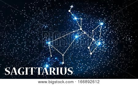 Symbol Sagittarius Zodiac Sign. Vector Illustration EPS10