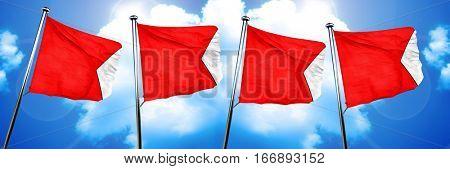 Bravo maritime signal flag, 3D rendering