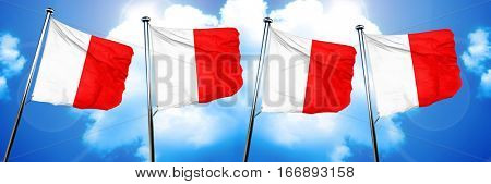 Hotel maritime signal flag, 3D rendering