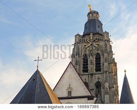Oudenaarde church of Saint Walburga Flanders Belgium Europe