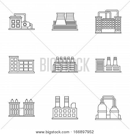 Production icons set. Outline illustration of 9 production vector icons for web
