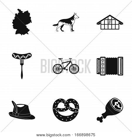 Travel to Germany icons set. Simple illustration of 9 travel to Germany vector icons for web