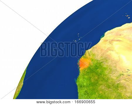 Country Of Guinea-bissau Satellite View