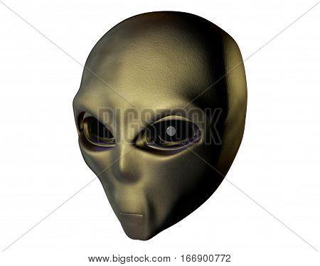Alien. 3D computer render. Isolated on white. Stock illustration