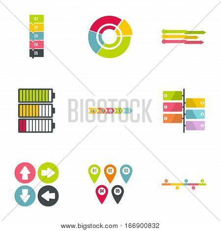 Business analyst icons set. Flat illustration of 9 business analyst vector icons for web