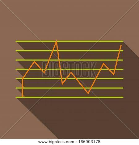 Financial statistics icon. Flat illustration of financial statistics vector icon for web design