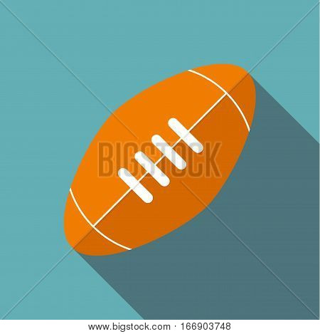 Rugby ball icon. Flat illustration of rugby ball vector icon for web design
