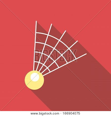 Badminton shuttlecock icon. Flat illustration of badminton shuttlecock vector icon for web design