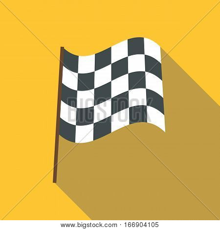 Racing flag icon. Flat illustration of racing flag vector icon for web design