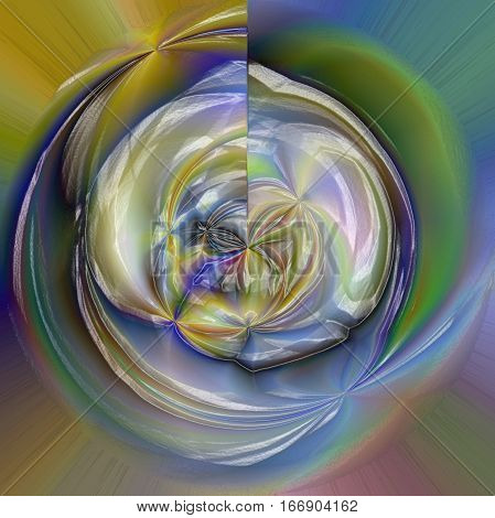 Abstract coloring background of the gold gradient with visual wave,poolar coordinates,plastic wrap and lighting effects