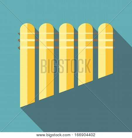 Pan flute icon. Flat illustration of pan flute vector icon for web design