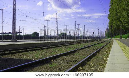 road street train transports trainstation transportation trains railroad business