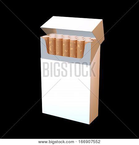 3D Illustration Of Cigarette Package