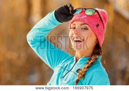 Fit Girl Posing In Park