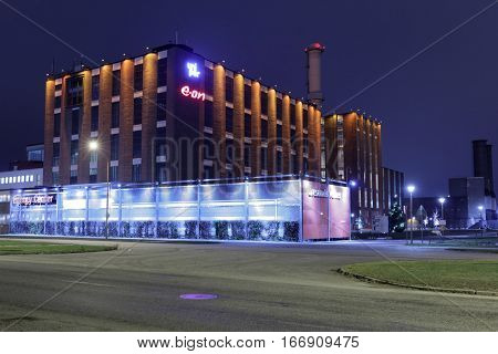 MALMO, SWEDEN - DECEMBER 29, 2016: Energy center of e-on company. E.ON is an international privately-owned energy supplier which is focused on renewables, energy networks and customer solutions