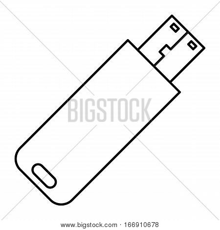 Simple thin line usb flash disk icon