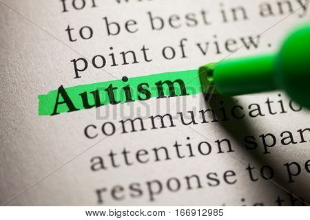 Fake Dictionary definition of the word Autism.