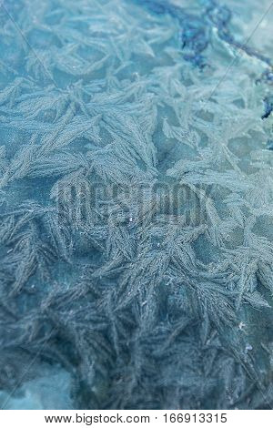 Snowflake On The Window Of The Car