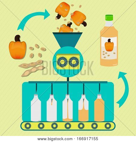 Cashew And Soy Juice Fabrication Process