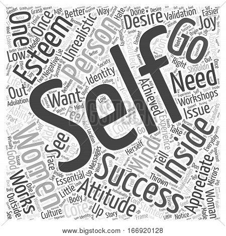Improvement Self Womens Workshop Word Cloud Concept