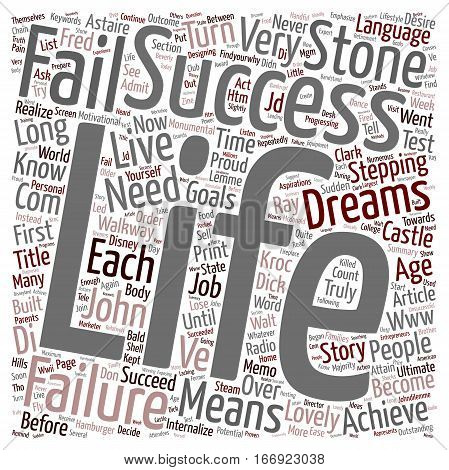IN SUCCESS LANGUAGE FAILURE MEANS YOU ARE ALMOST THERE text background wordcloud concept