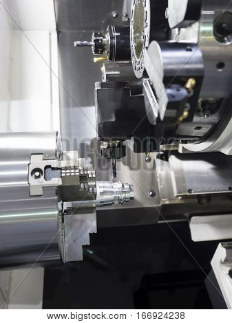 Machining Automotive Part By Cnc Turning Machine