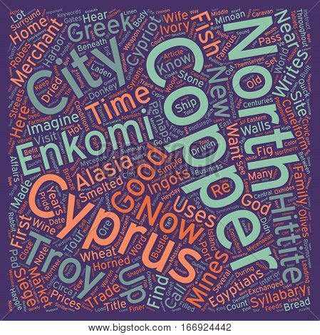 In Their Footsteps A Copper Merchant in Enkomi text background wordcloud concept