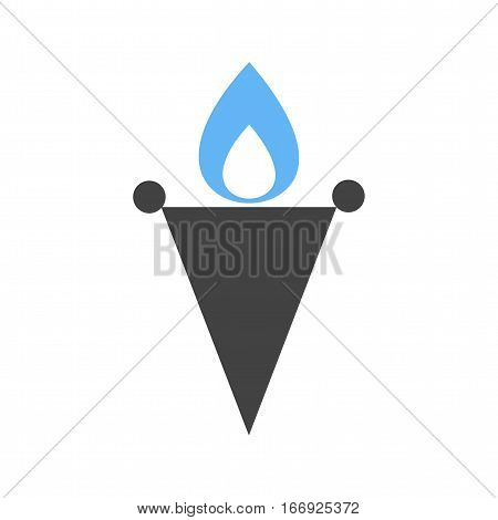 Torch, travel, museum icon vector image. Can also be used for museum. Suitable for mobile apps, web apps and print media.