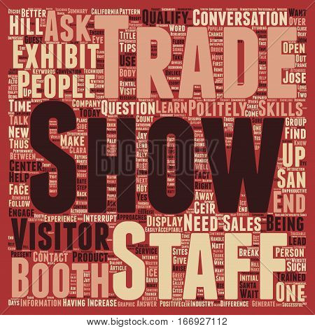 Increase Sales At Your Trade Show Booth text background wordcloud concept