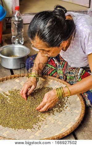 Woman With Bracelets In Nepal