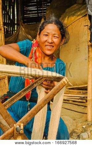 Smiling Woman In Nepal