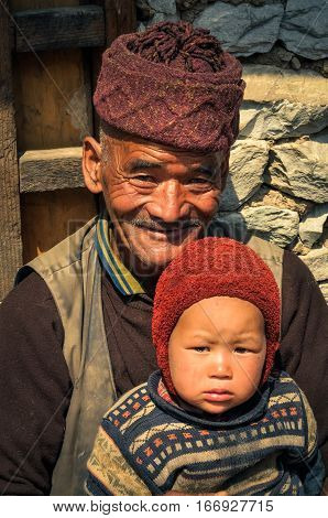 Grandfather In Nepal