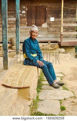 Man In Kimono In Nepal