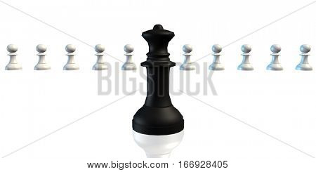 Perfect Job Candidate Business Chess Concept Art 3D Rendering