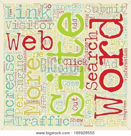Increase Web Site Traffic with These 8 Ways text background wordcloud concept