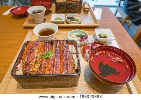 Broiled Eel On Rice,unaju, Japanese Unagi Cuisine