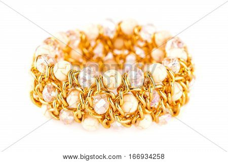 Stylish bracelet isolated on a white background.