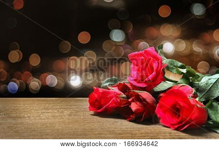 Red Rose On Table Night Party