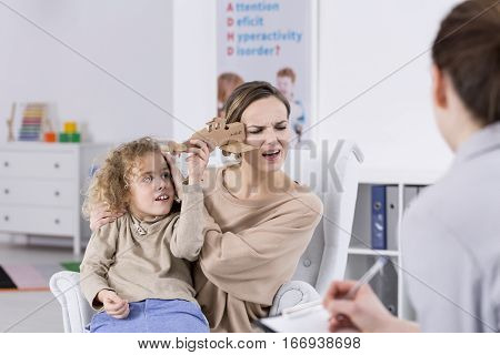 Adhd Child Annoying Mother