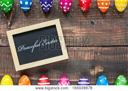 Paschal Eggs And Blackboard