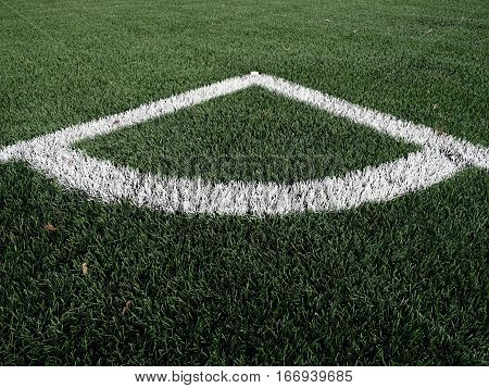 Football Playground Corner On Heated Artificial Green Turf Playgroun