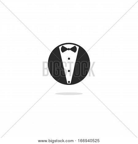 Butler or Tuxedo or Jacket Icon or Logo