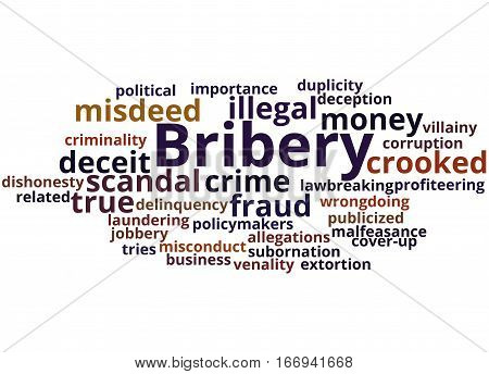 Bribery, Word Cloud Concept 4